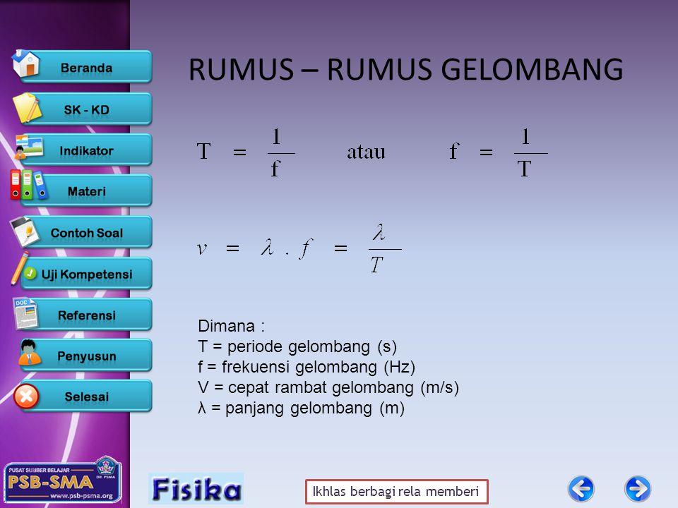 RUMUS – RUMUS GELOMBANG