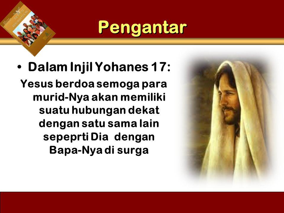 Pengantar Dalam Injil Yohanes 17: