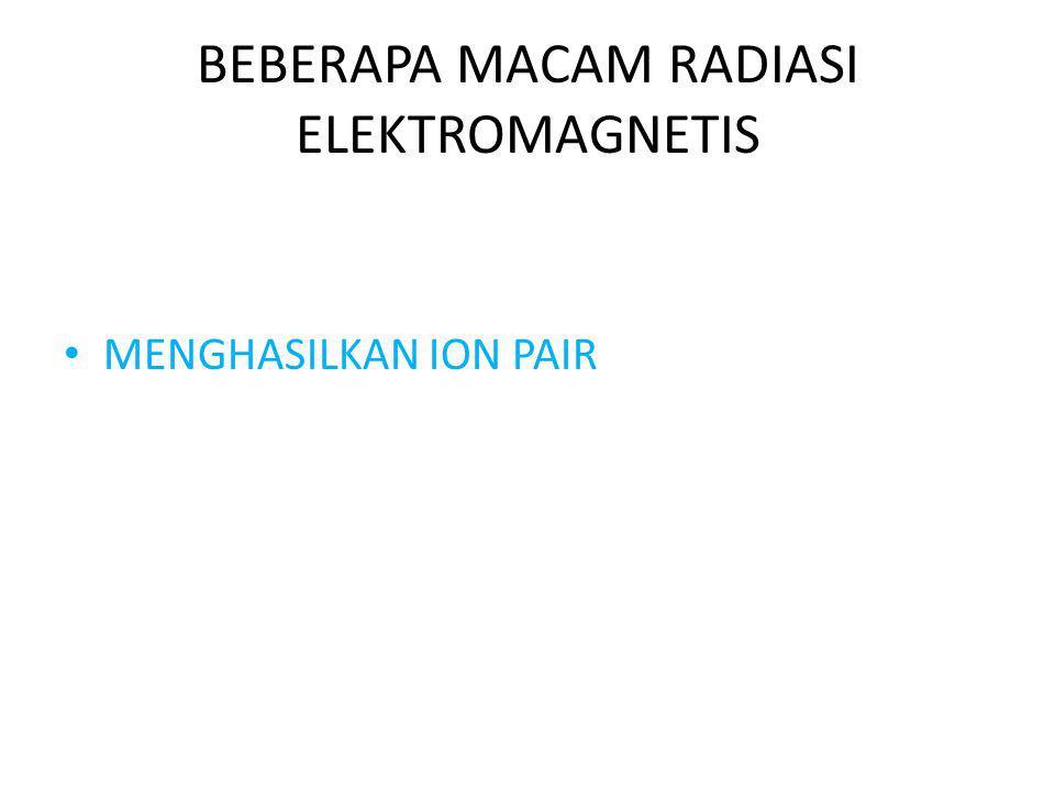 BEBERAPA MACAM RADIASI ELEKTROMAGNETIS