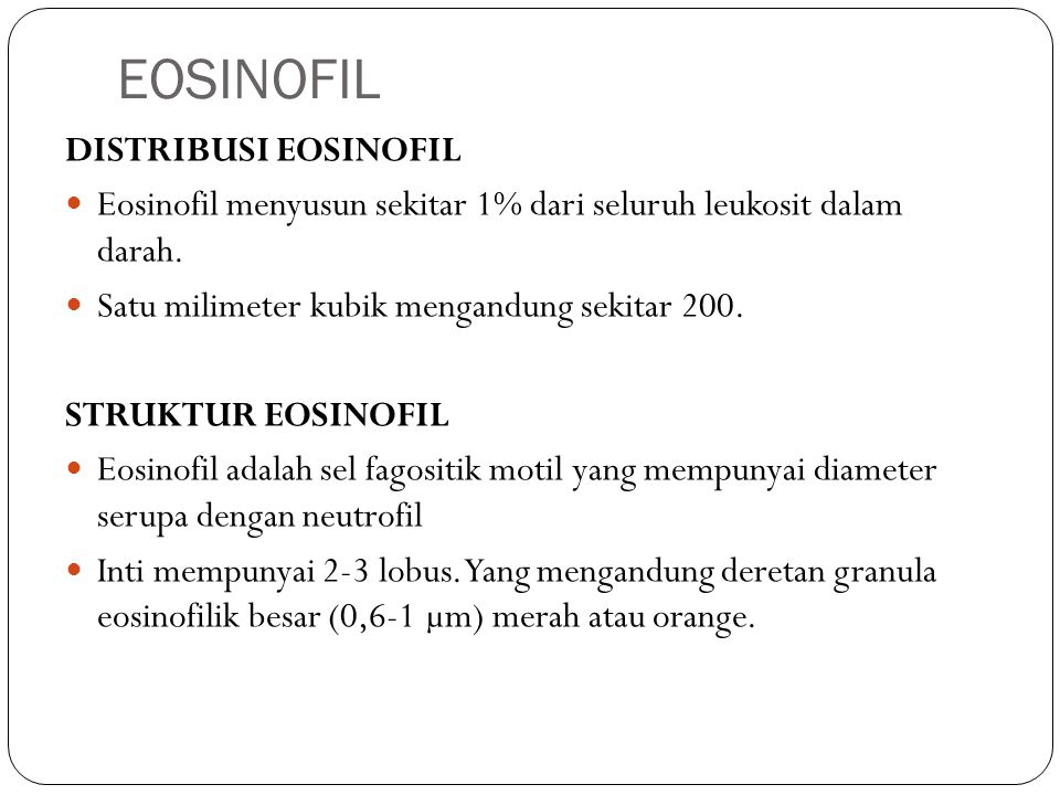 EOSINOFIL DISTRIBUSI EOSINOFIL