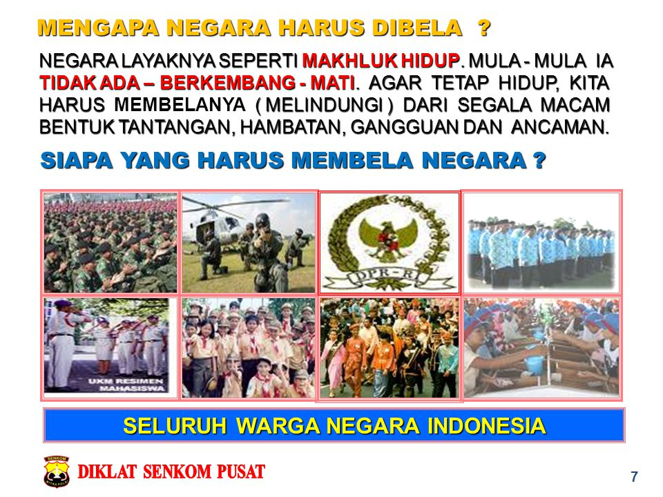 SELURUH WARGA NEGARA INDONESIA