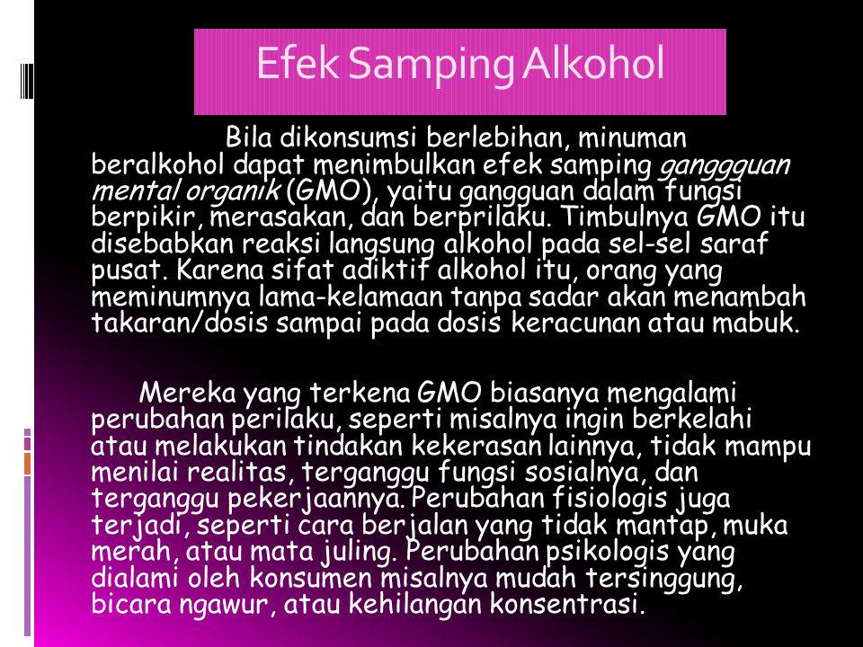 Efek Samping Alkohol