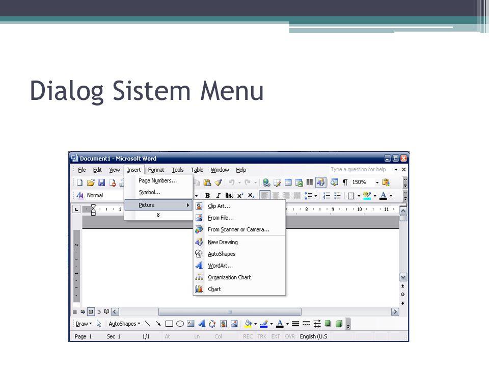 Dialog Sistem Menu