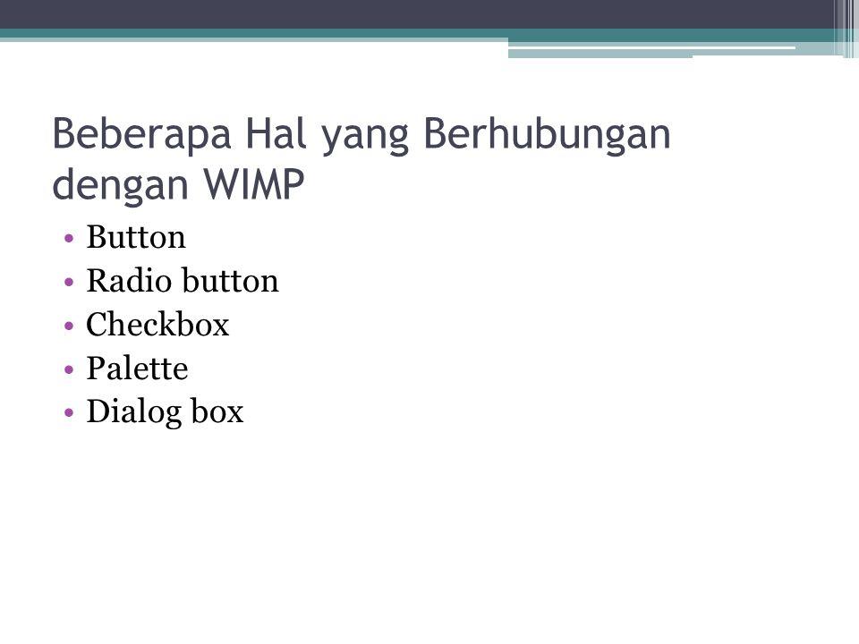 Beberapa Hal yang Berhubungan dengan WIMP