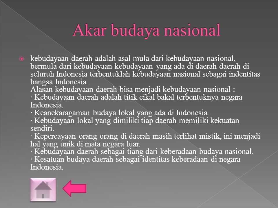 Akar budaya nasional