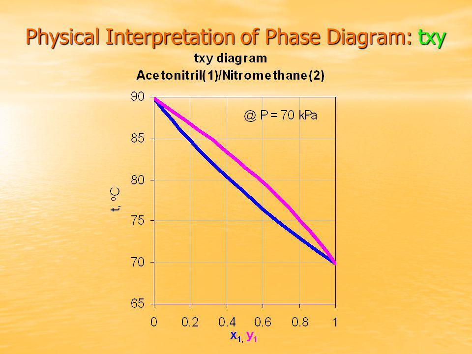 Physical Interpretation of Phase Diagram: txy