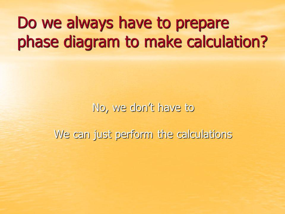 Do we always have to prepare phase diagram to make calculation