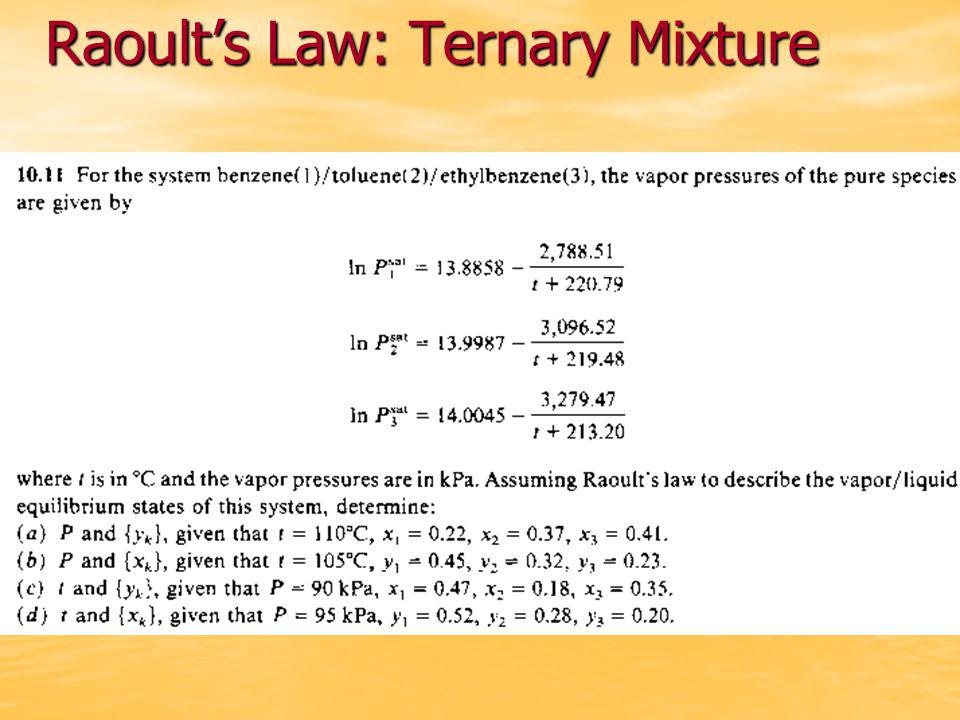 Raoult's Law: Ternary Mixture