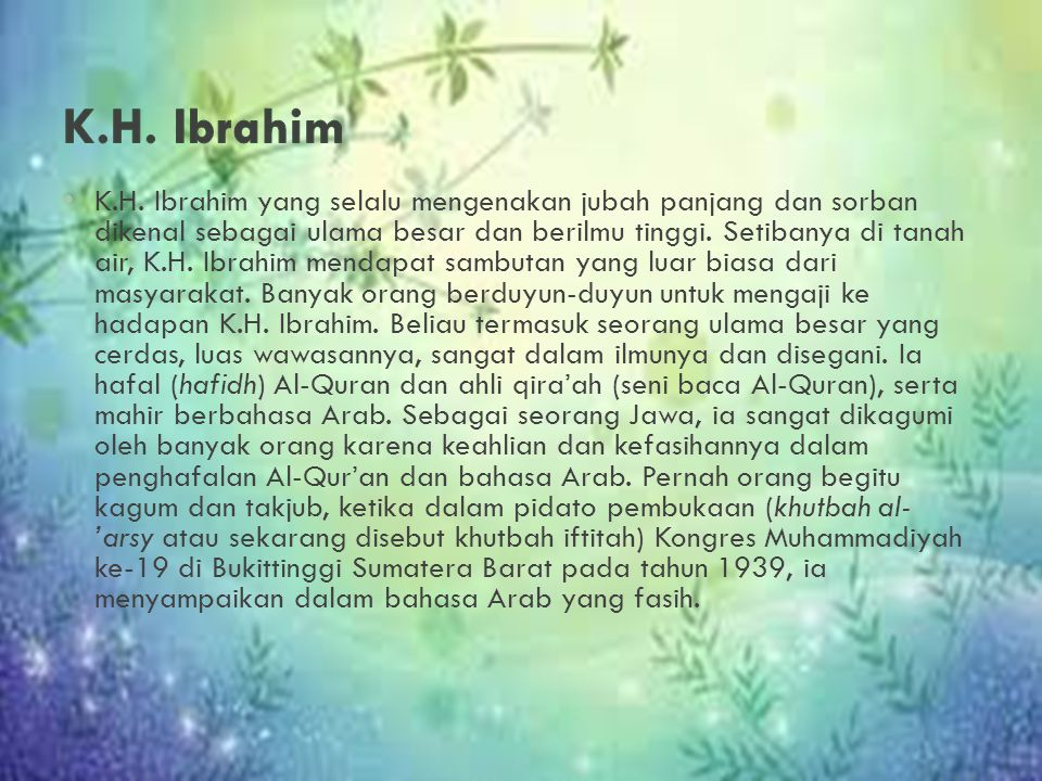 K.H. Ibrahim
