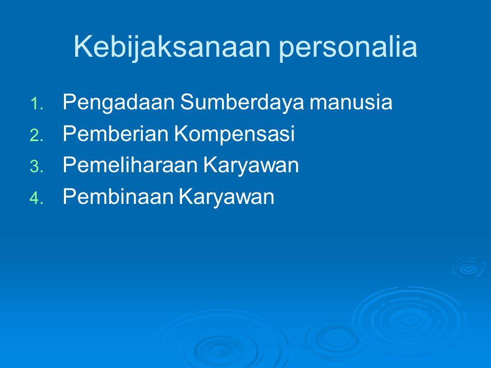 Kebijaksanaan personalia