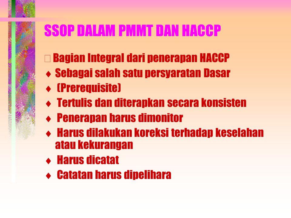 SSOP DALAM PMMT DAN HACCP