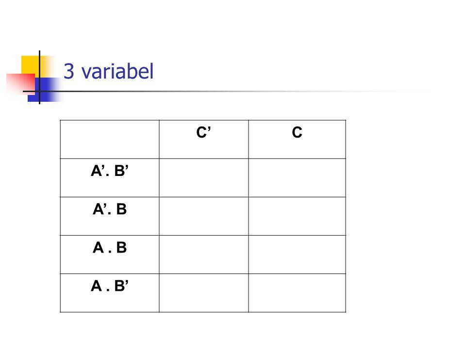 3 variabel C' C A'. B' A'. B A . B A . B'