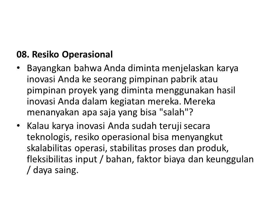 08. Resiko Operasional