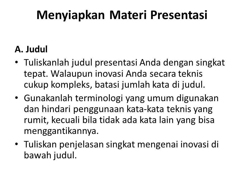 Menyiapkan Materi Presentasi