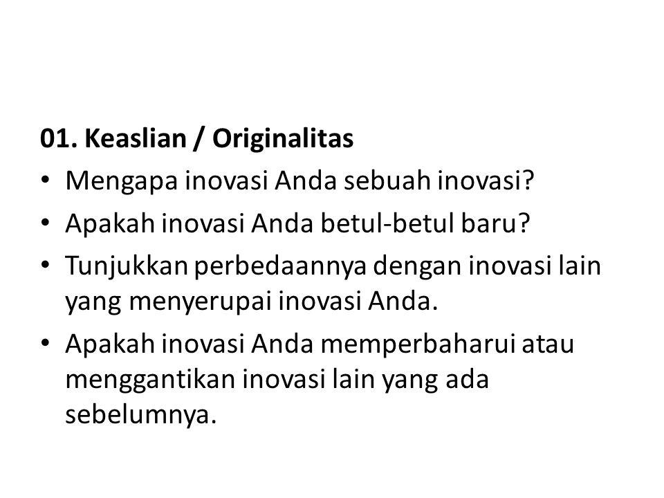 01. Keaslian / Originalitas