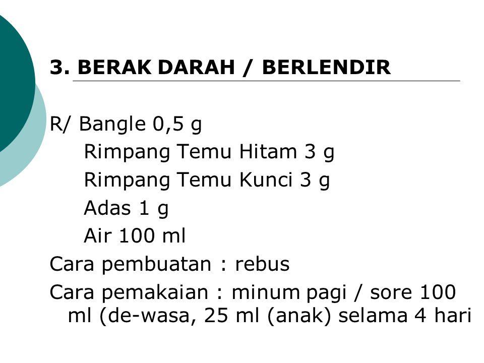 3. BERAK DARAH / BERLENDIR