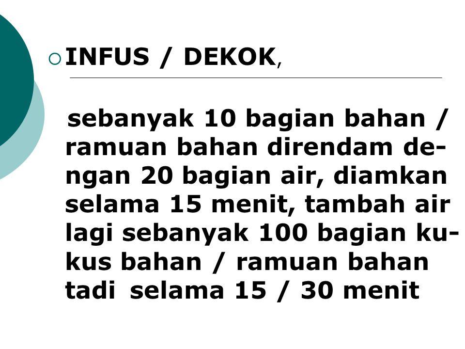 INFUS / DEKOK,