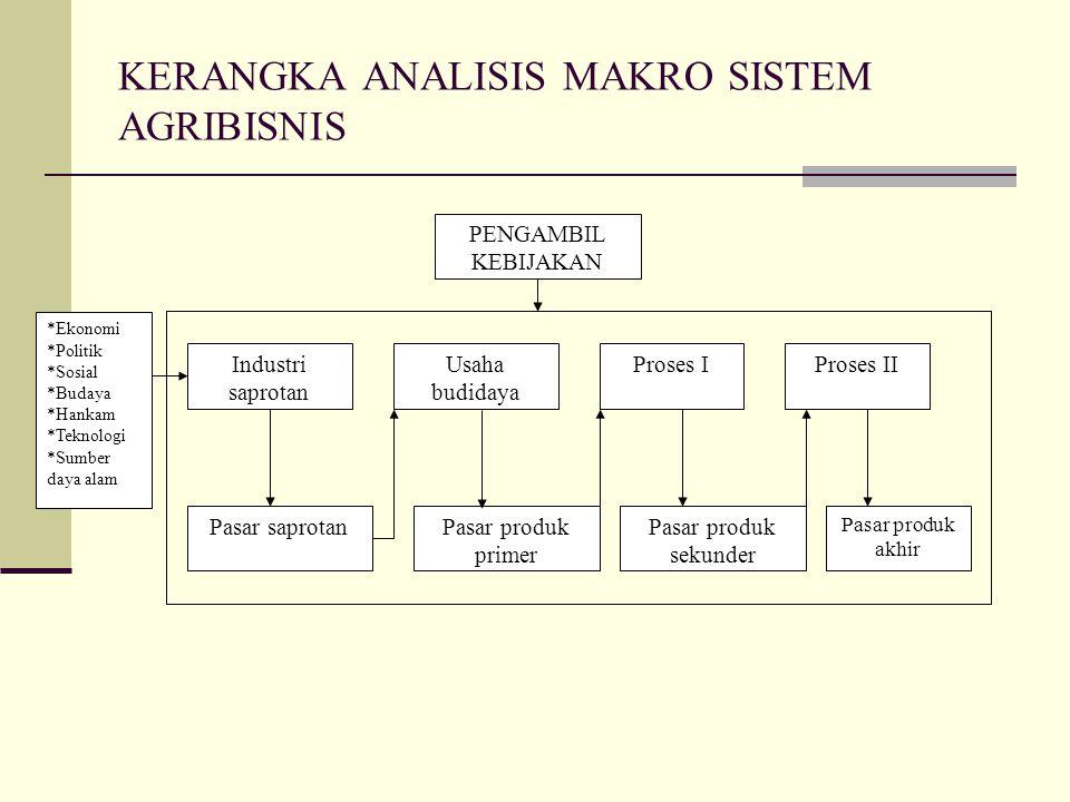 KERANGKA ANALISIS MAKRO SISTEM AGRIBISNIS