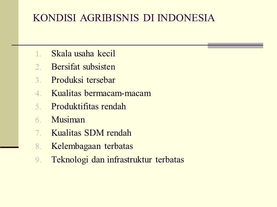 KONDISI AGRIBISNIS DI INDONESIA