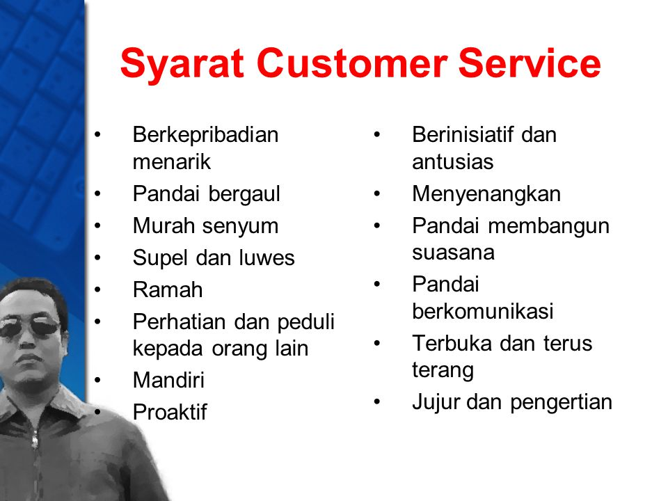 Syarat Customer Service
