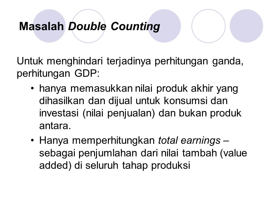 Masalah Double Counting