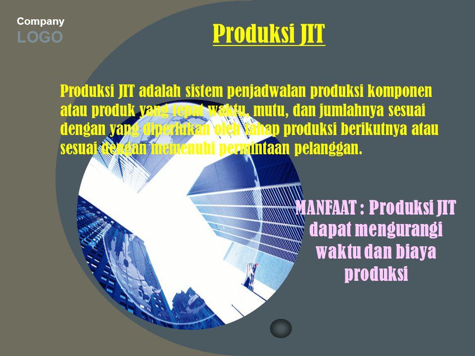 MANFAAT : Produksi JIT dapat mengurangi waktu dan biaya produksi
