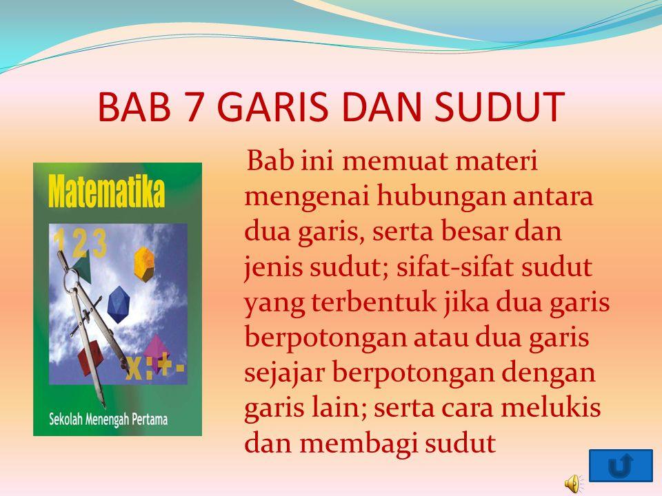 BAB 7 GARIS DAN SUDUT