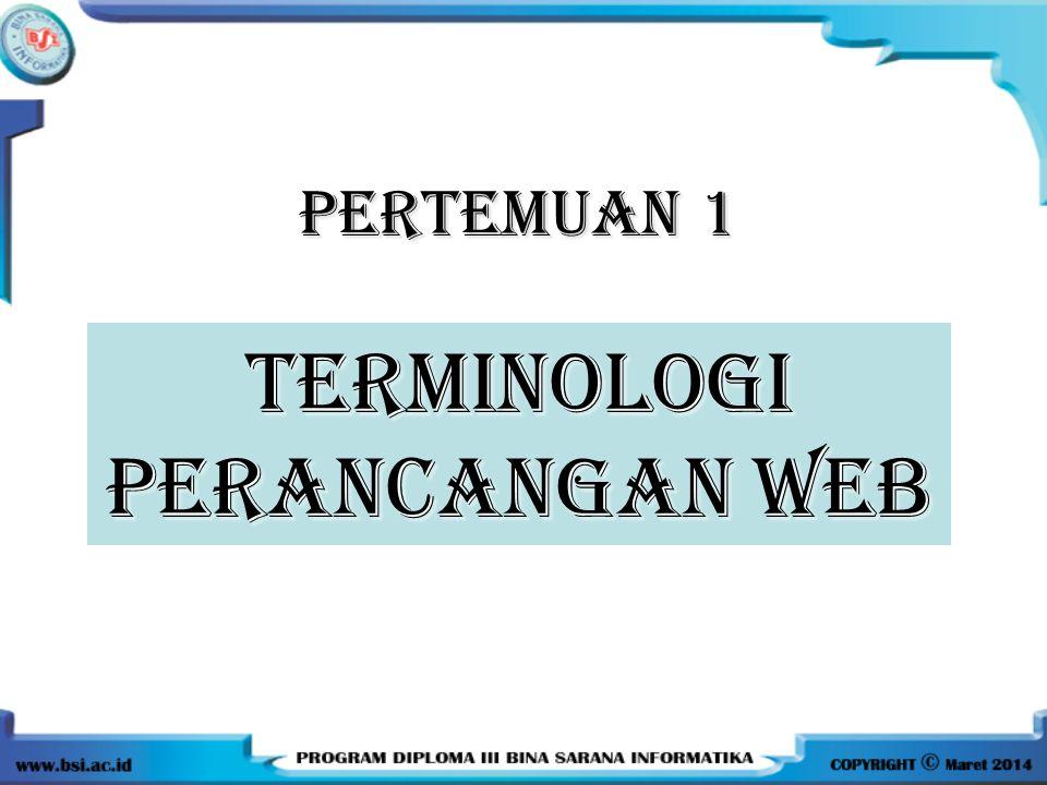 TERMINOLOGI PERANCANGAN WEB
