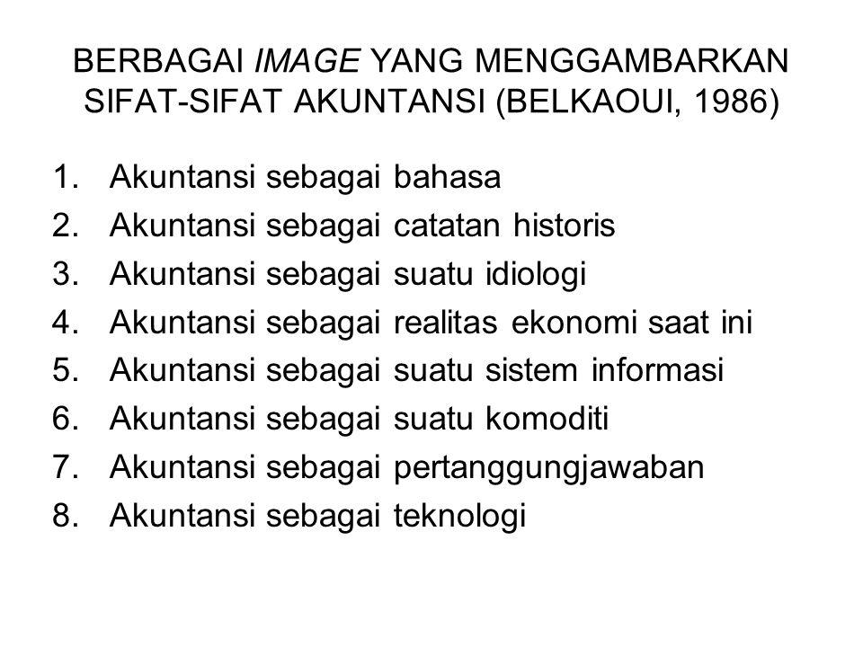 BERBAGAI IMAGE YANG MENGGAMBARKAN SIFAT-SIFAT AKUNTANSI (BELKAOUI, 1986)