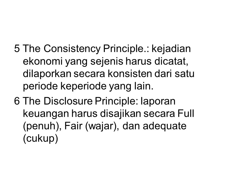 5 The Consistency Principle