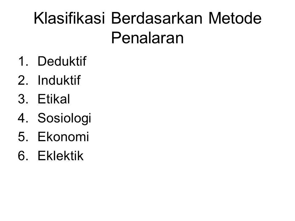 Klasifikasi Berdasarkan Metode Penalaran