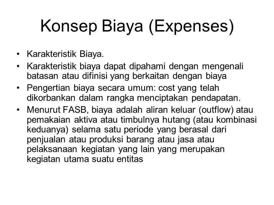 Konsep Biaya (Expenses)