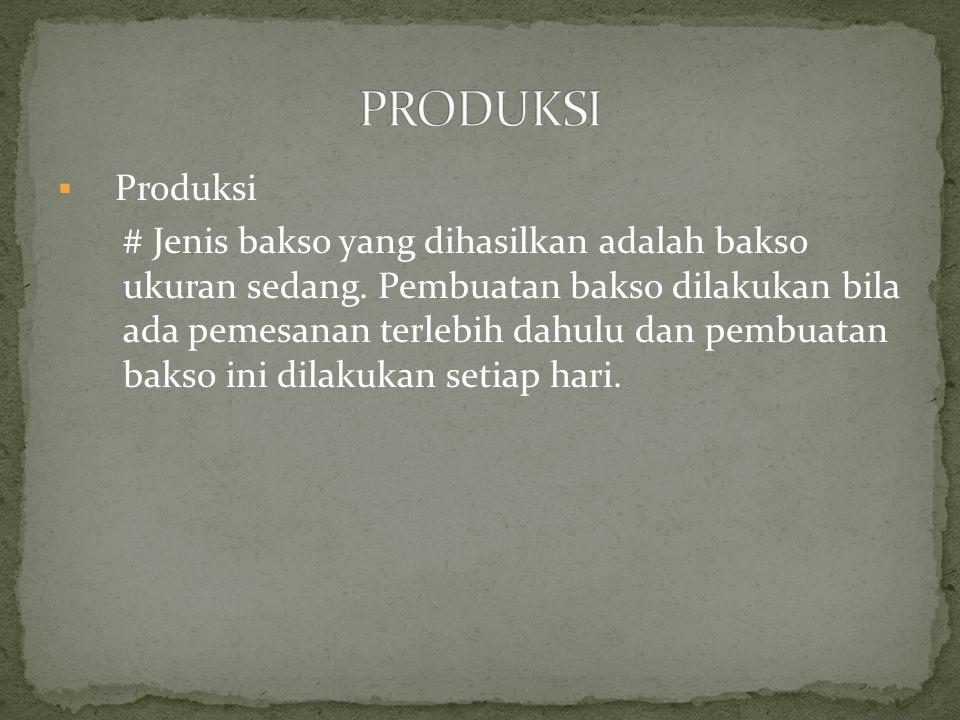 PRODUKSI Produksi.