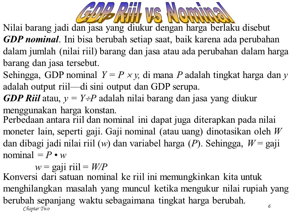 GDP Riil vs Nominal
