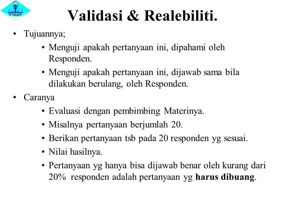 Validasi & Realebiliti.