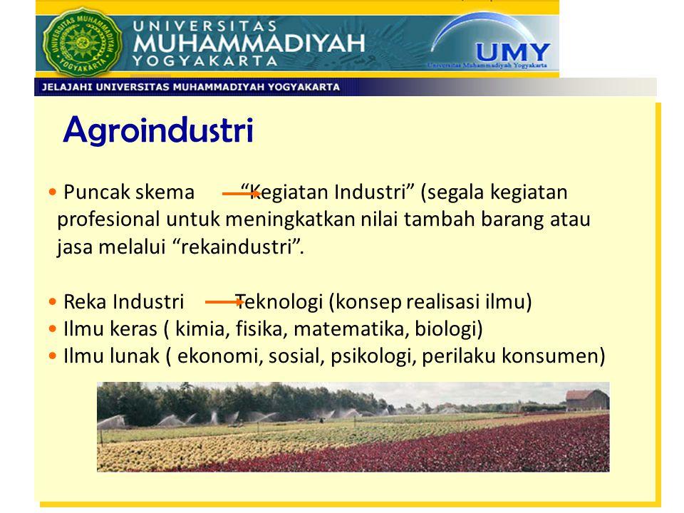 Agroindustri Puncak skema Kegiatan Industri (segala kegiatan