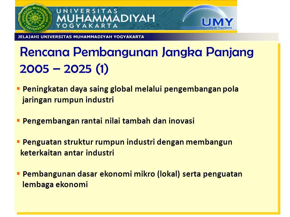 Rencana Pembangunan Jangka Panjang 2005 – 2025 (1)