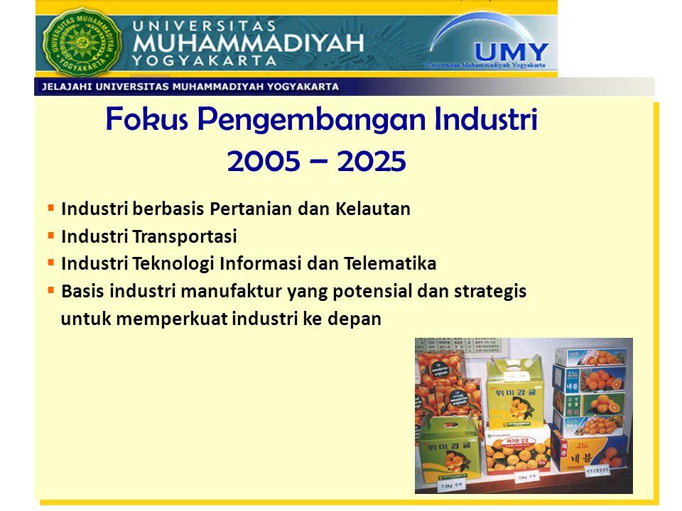 Fokus Pengembangan Industri