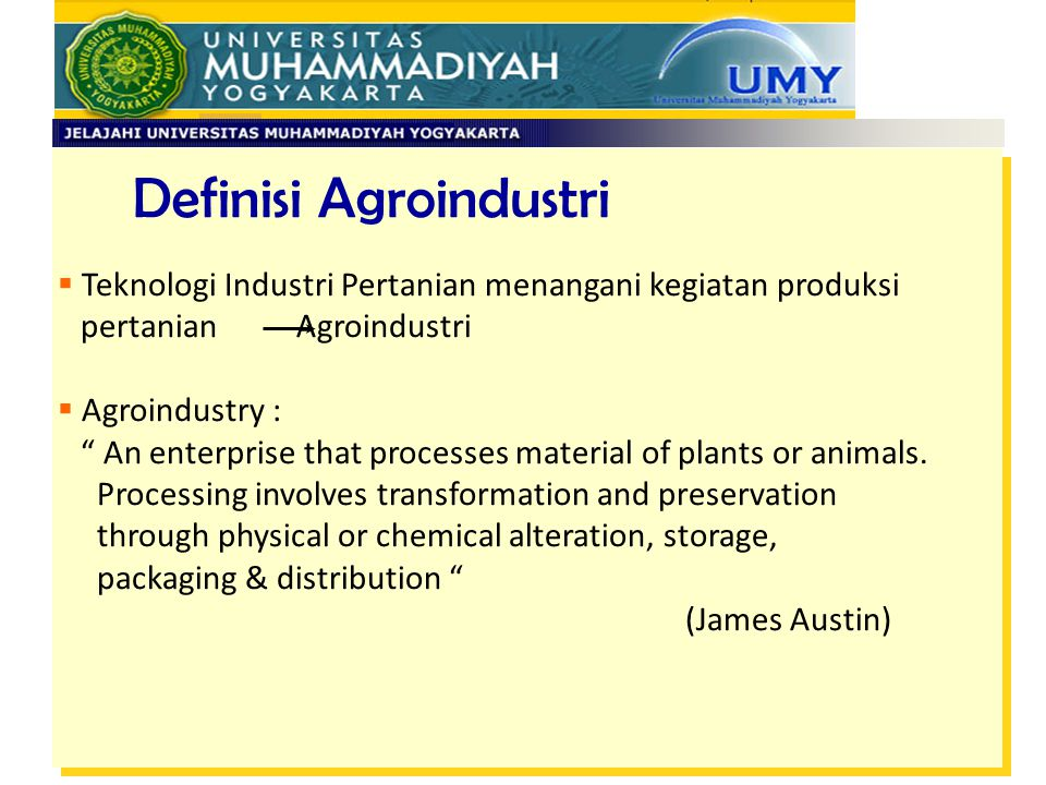 Definisi Agroindustri