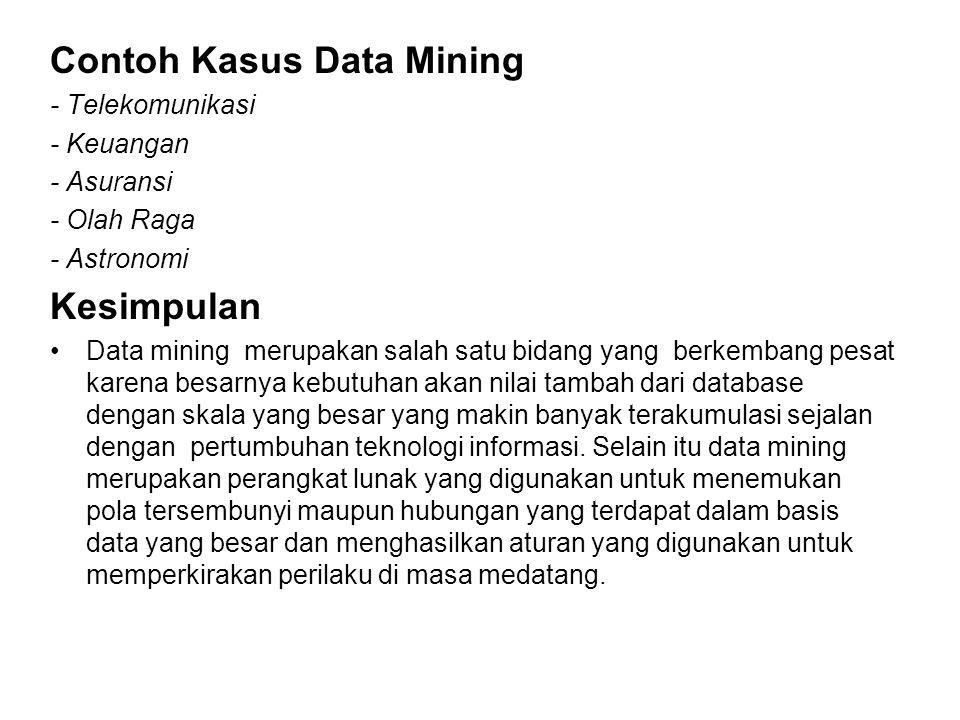 Contoh Kasus Data Mining