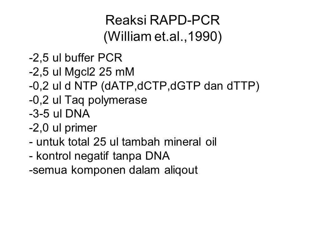 Reaksi RAPD-PCR (William et.al.,1990)