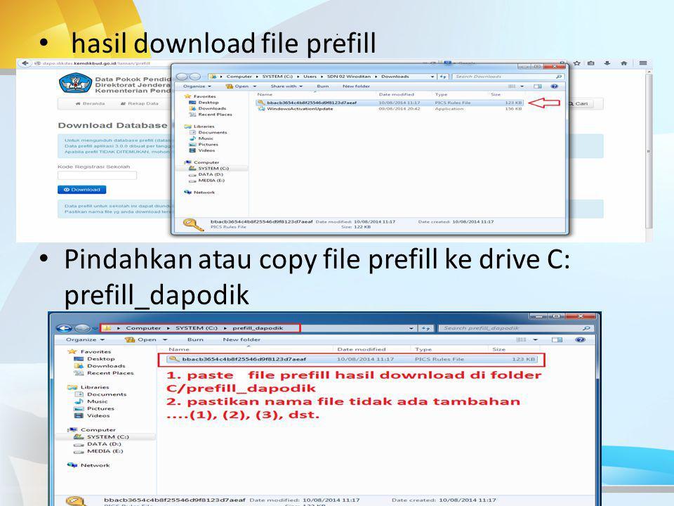 hasil download file prefill