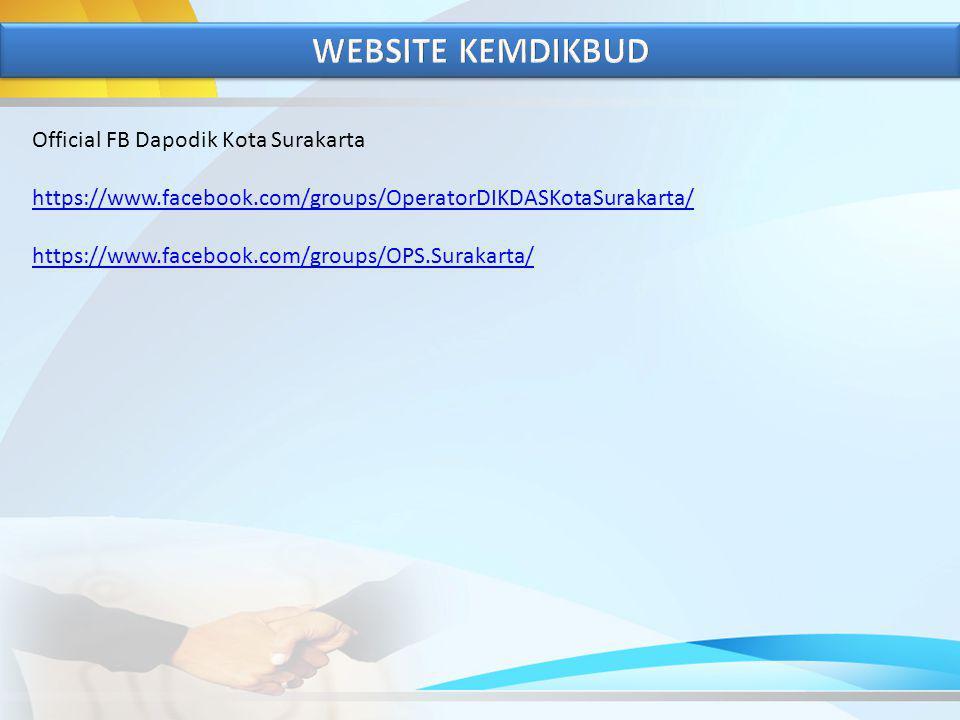 WEBSITE KEMDIKBUD Official FB Dapodik Kota Surakarta