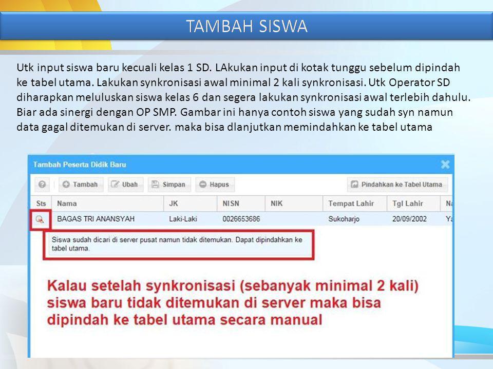 TAMBAH SISWA