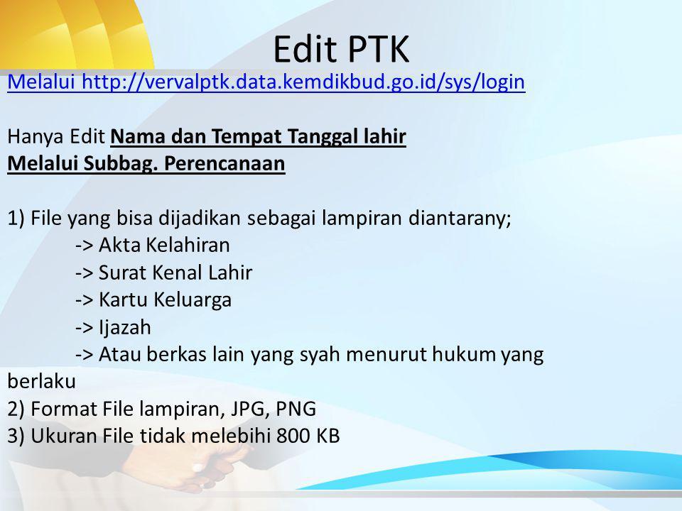 Edit PTK Melalui http://vervalptk.data.kemdikbud.go.id/sys/login