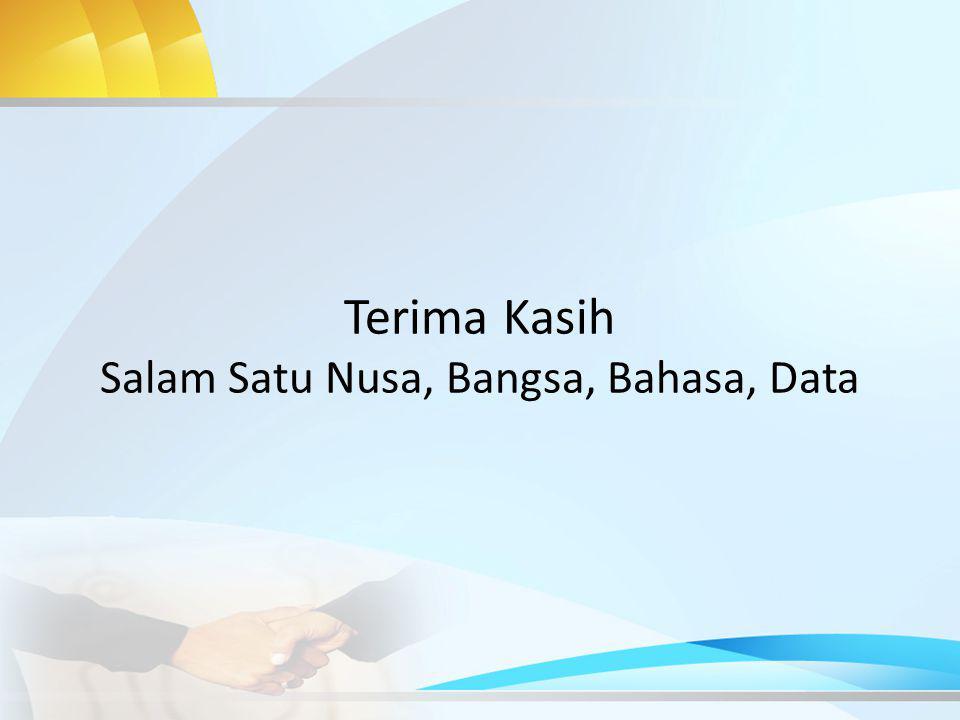 Terima Kasih Salam Satu Nusa, Bangsa, Bahasa, Data