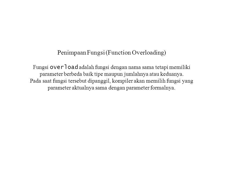Penimpaan Fungsi (Function Overloading)