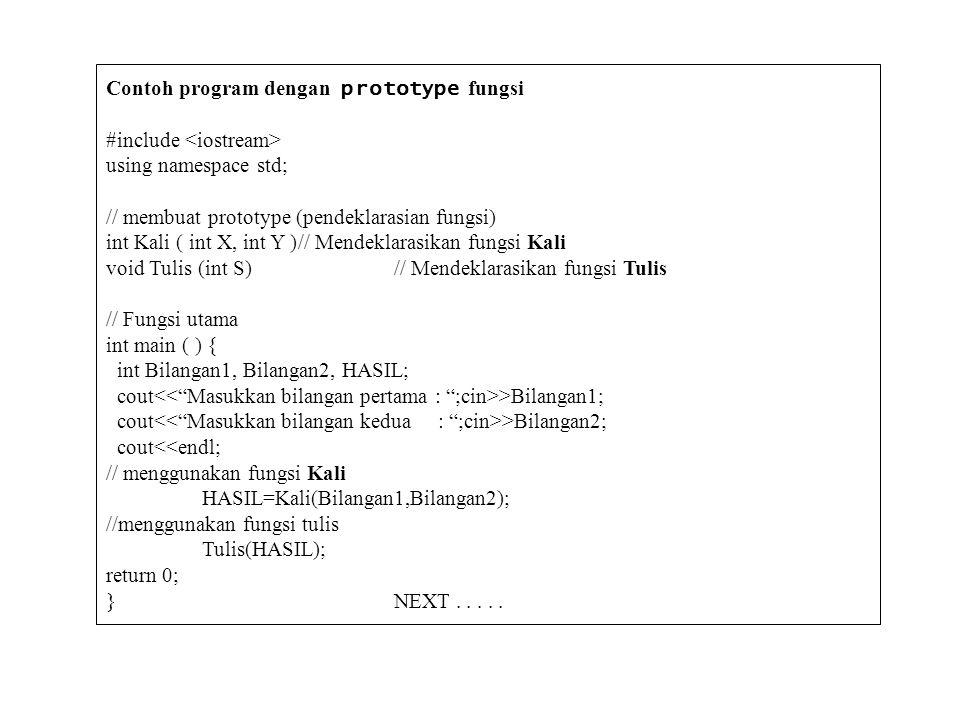 Contoh program dengan prototype fungsi