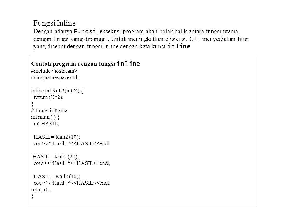 Fungsi Inline
