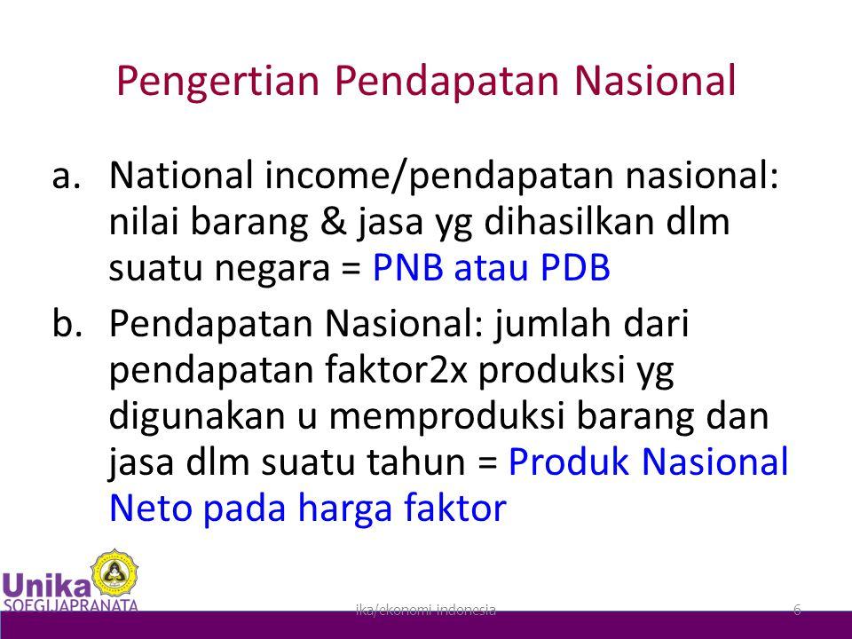 Pengertian Pendapatan Nasional